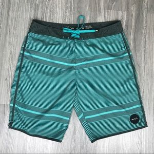 RVCA Classic Non-Stretch Board Swim Shorts. 34